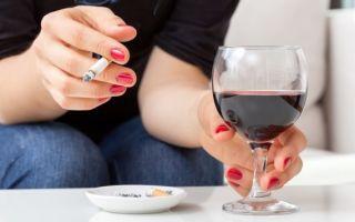 Что вреднее пить или курить?