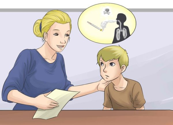 Родители должны говорить о вреде курения